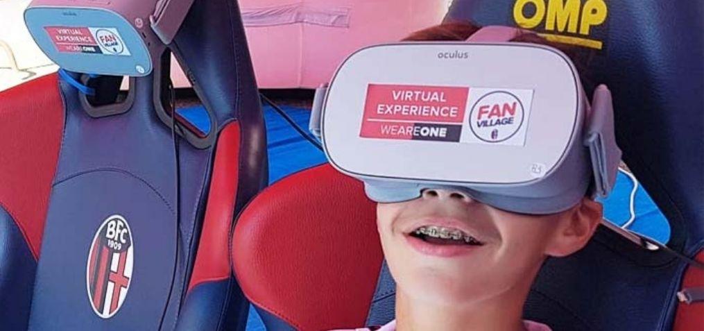 esperienza immersiva 360 video fc bologna mantova integmine